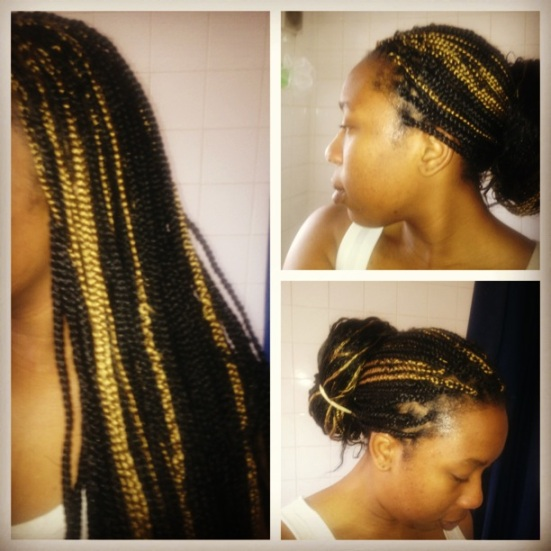 Standard medium sized box braids done by moi